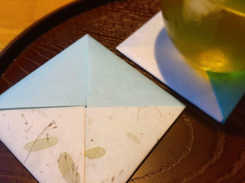 和紙で作るコースター